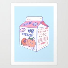 Peach Milk Art Print