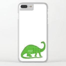 Brontosaurus Clear iPhone Case