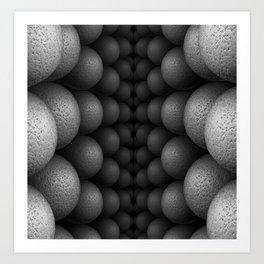 Black and White Bilateral Art Print