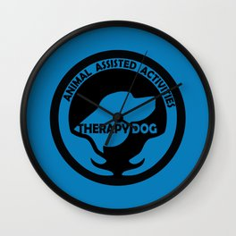 Animal Assisted Activities  - THERAPY DOG logo dog help Wall Clock