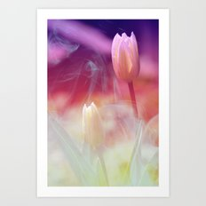 Dreaming Tulips Art Print