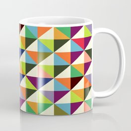 Geometric Pattern 86 (colorful mid-century triangle) Coffee Mug