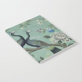 A Teal of Two Birds Chinoiserie Notebook