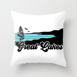 Great Lakes Coast Throw Pillow