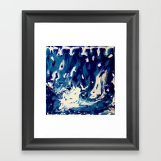 MIDNIGHT BLUE MARBLE #2 Framed Art Print