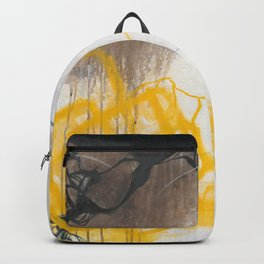 Tension - Square Abstract Expressionism Backpack