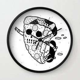 Pepperoni grab Wall Clock