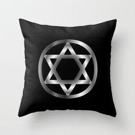 The seal of Solomon- a magical symbol or Hexagram Throw Pillow