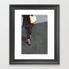 Argyle Socks by Kat Mills Framed Art Print