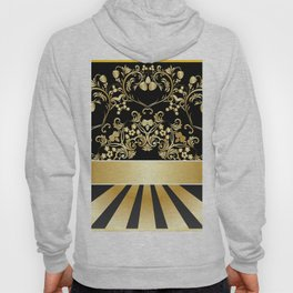 Golden floral with strawberries Hoody