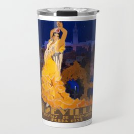 Spain 1933 Seville April Fair Travel Poster Travel Mug