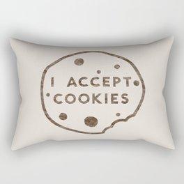 I Accept Cookies Rectangular Pillow