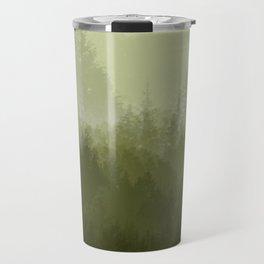green forest fog Travel Mug