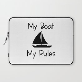 My Boat My Rules Lake and Ocean Travel Laptop Sleeve