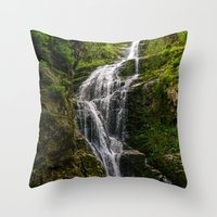 waterfall Throw Pillows featuring Waterfall by Pati Designs