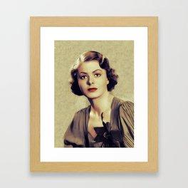 Ingrid Bergman, Hollywood Legend Framed Art Print