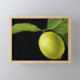 Lemon on Black DP150415a Framed Mini Art Print