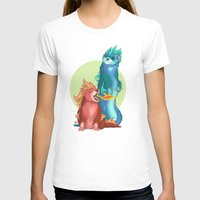 ferret T-shirts featuring Ferret Dragons by AlliePets