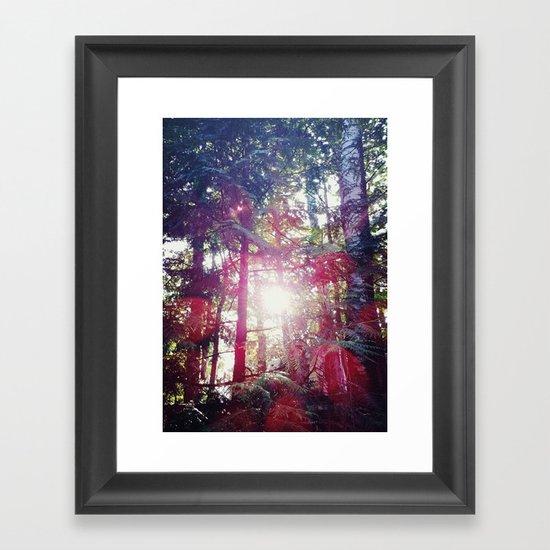 through the light Framed Art Print