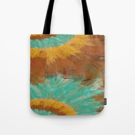 Copper, Gold, and Turquoise Design Tote Bag