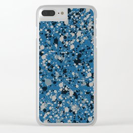 Speckles Blue Clear iPhone Case
