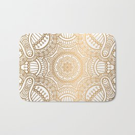 Gold Ethnic Pattern With Mandalas Bath Mat