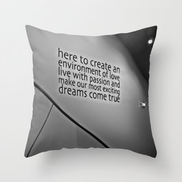 Create your life with love and passion Throw Pillow