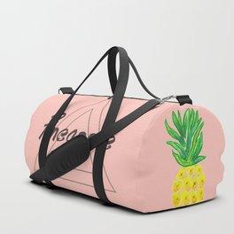 Watercolor Pineapple Duffle Bag