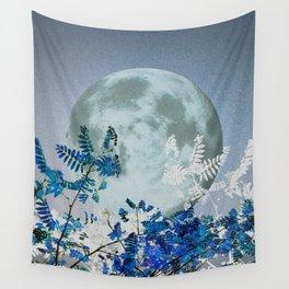 Super Moon v2 - Blue #buyart Wall Tapestry