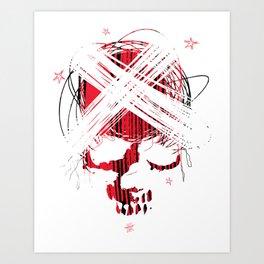 Star skull2 Art Print
