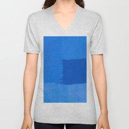 Abstract Blue Unisex V-Neck