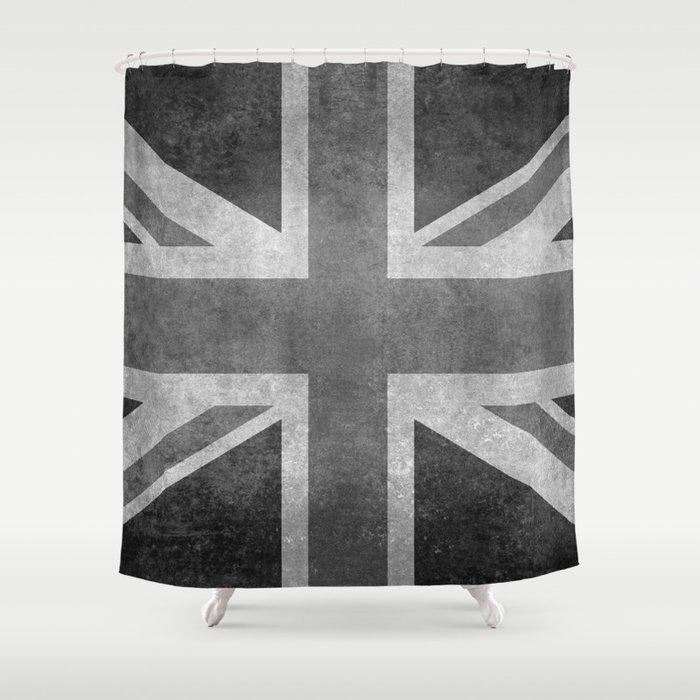 Union Jack Vintage retro style B&W 3:5 Shower Curtain