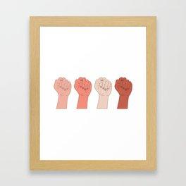 Female Power Pattern 5 Framed Art Print