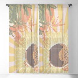 Sunny Cafe Sheer Curtain