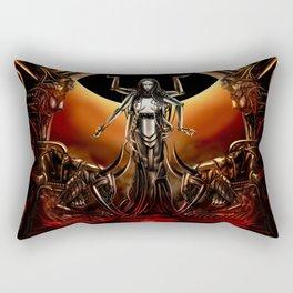 Black Sun Rising Rectangular Pillow