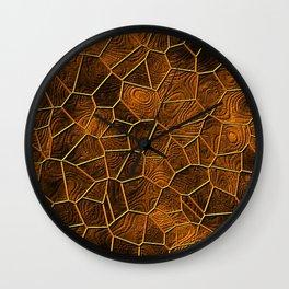 Mosaic LORA,warm brown Wall Clock