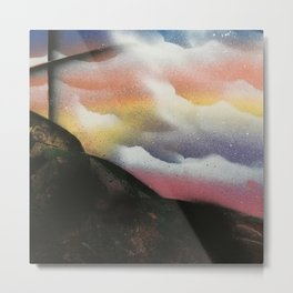 Beautiful Sky Cross Metal Print