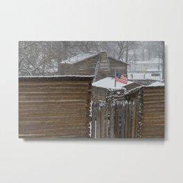 Winter at the fort Metal Print