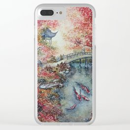 Autumn Morning (Watercolor painting) Clear iPhone Case