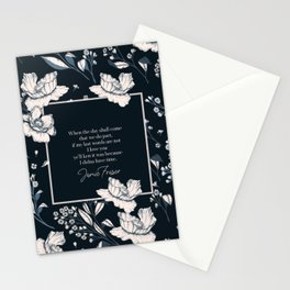 When the day shall come that we do part... Jamie Fraser Stationery Cards
