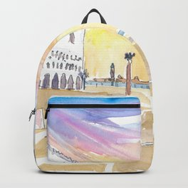 Per San Marco - St Mark Square In Venice Italy Backpack