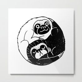 The Tao of Sloths Metal Print