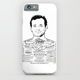 Bill Murray Tattooed Ghostbusters iPhone Case