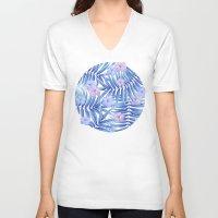 hawaiian V-neck T-shirts featuring Hawaiian Pattern by Marta Olga Klara