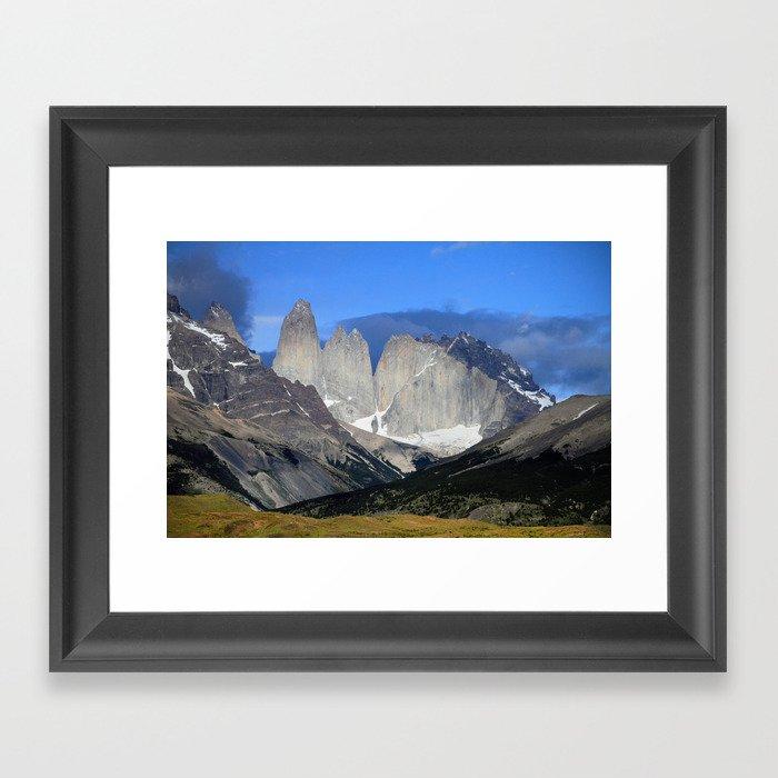 Torres del Paine Framed Art Print