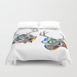 TROPHIES AND ROSES Duvet Cover