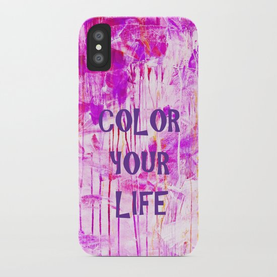 color your life - purple iPhone Case