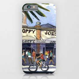 Duval at Greene, Key West iPhone Case