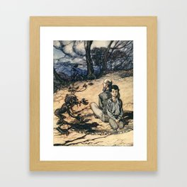 Arthur Rackham - Fairy Tales of the Brothers Grimm (1916) - The King of the Golden Mountain Framed Art Print