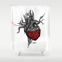 Wired Heart Shower Curtain